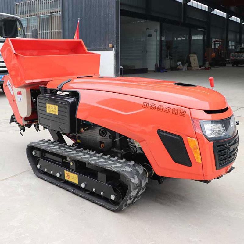 田园管理机履带式施肥开沟农用果园遥控多功能