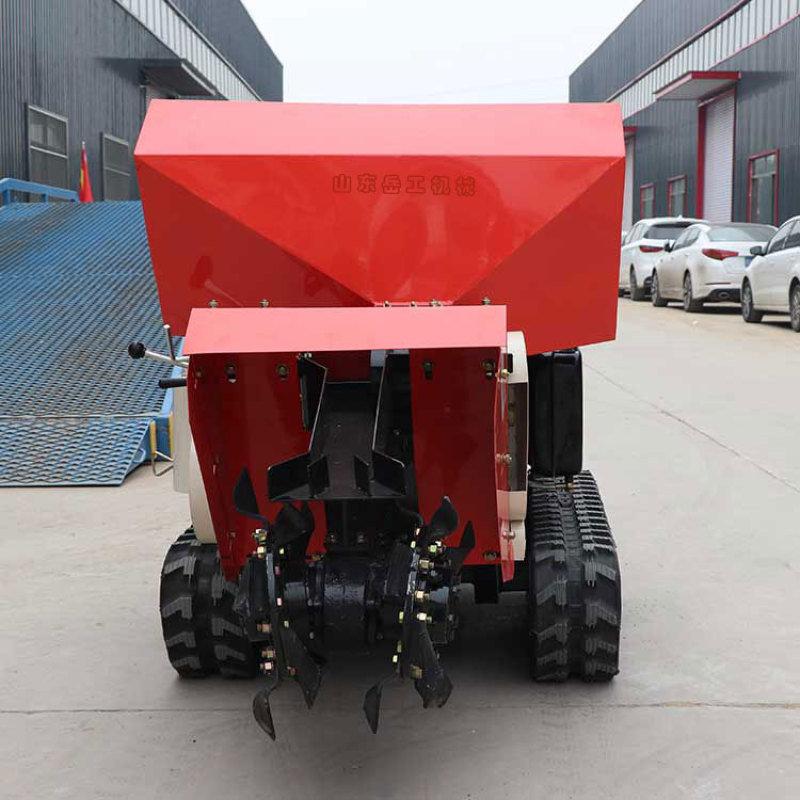 履带式开沟施肥回填一体机 柴油履带田园管理机