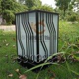 售樓部方形矮地燈復古柱頭磨砂玻璃戶外草坪燈工廠直銷