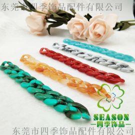 厂家直塑胶链条 塑胶钩扣 箱包手袋链条