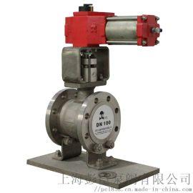 上海气动V型法兰球阀-V型不锈钢球阀厂家直销