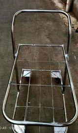 太仓定制不锈钢手推车防锈平板搬货周转车铝合金框架