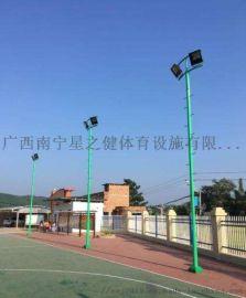 球场灯杆,广西南宁篮球场LED节能照明灯杆