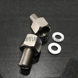 不锈钢M14*1.5压力表接头 活接式压力表接头