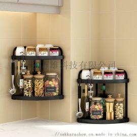 廚房調味置物架瓶罐臺面收納整理架免打孔調味品