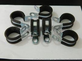 304不锈钢包胶条卡箍    厂家现货供应骑马卡