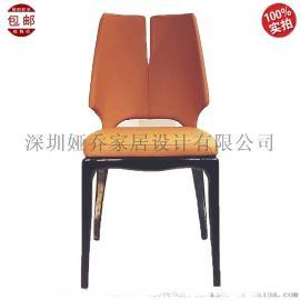 餐椅  款中式 实木 异形休闲椅  靠背椅
