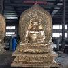 昌東工藝銅雕佛像廠家,鑄銅三寶佛鑄造生產廠家