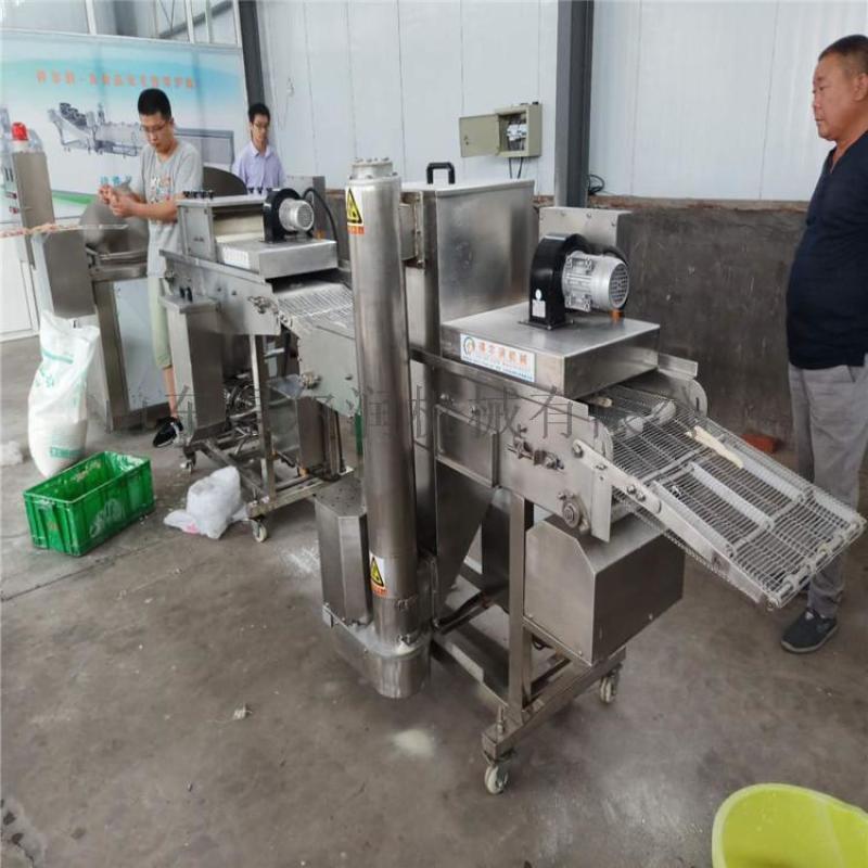 卡兹脆鸡排裹粉油炸生产线 全自动鸡排油炸机