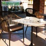 艺心花园 阳台花园藤编桌椅 桌椅户外庭院藤椅