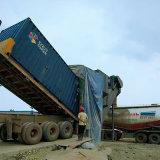 海運集裝箱卸灰機 無塵粉煤灰翻箱卸車機