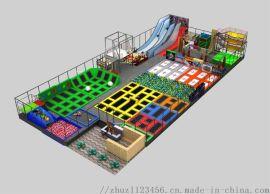 室内大型成人蹦床公园儿童乐园 滑梯游乐设备
