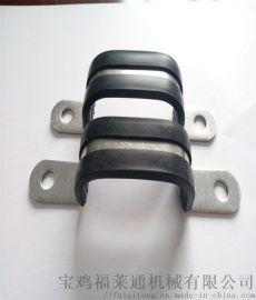 鞍山不锈钢骑马卡   半包胶金属软管