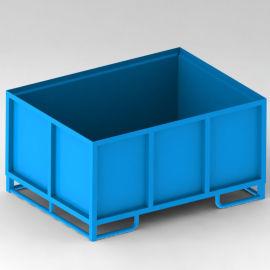 金属周转箱 G1金属箱 固定式可堆垛料箱