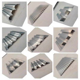 养生馆造型波浪铝长城板 不规则凹凸铝长城板构造特点