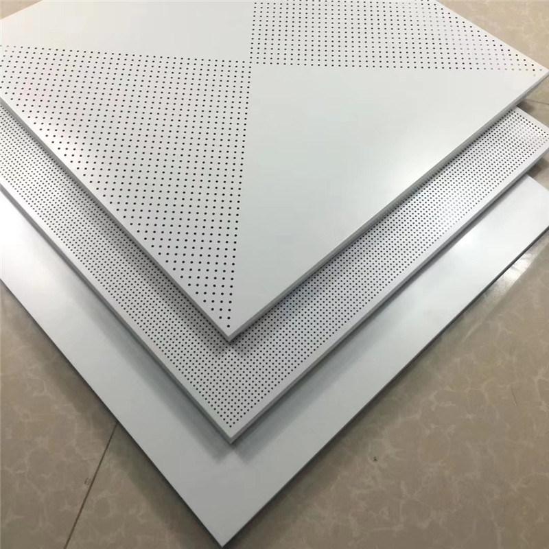 工程吊顶铝扣板全孔 穿孔铝扣板吊顶平板款