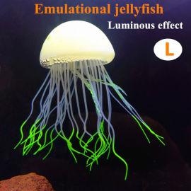 魚缸造景裝飾品夜光仿真水母硅膠海洋動物