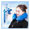 護頸水晶絨充氣旅行枕 東莞頸保保充氣旅行枕廠家定制