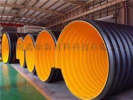 HDPE钢带波纹管厂家 排污管 污水管 DN300 欢迎来电