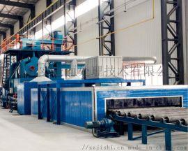 郑州基实生产钢板抛丸机型号全 通过式抛丸机种类多