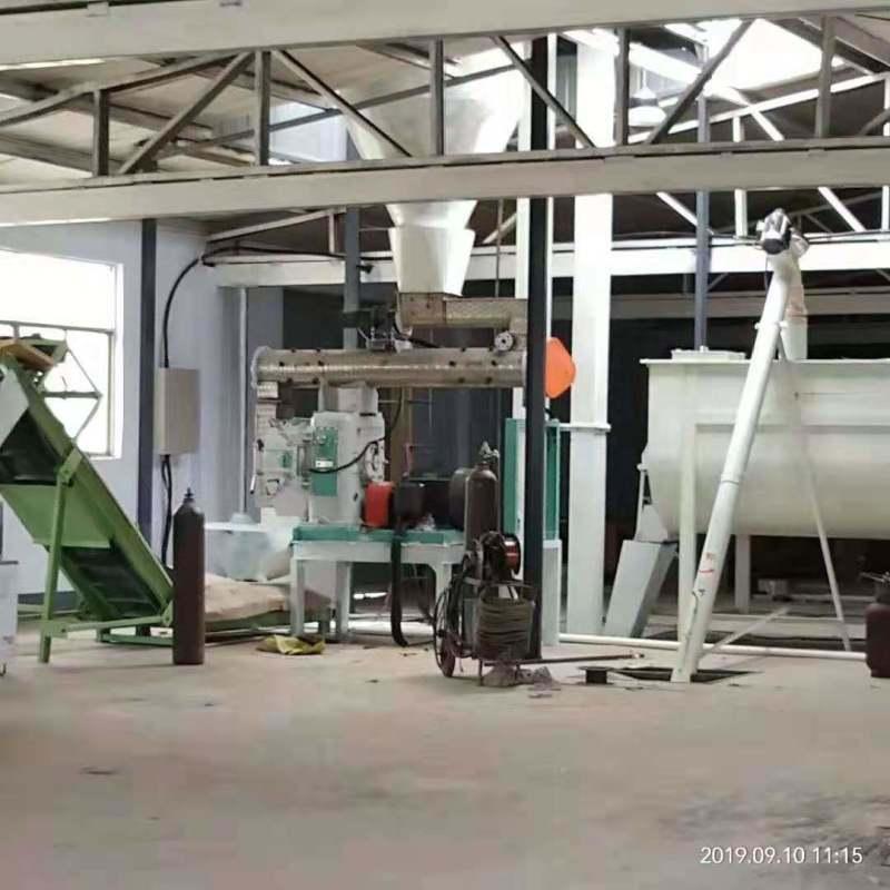 大型豆腐猫砂环模制粒生产线 松木棉花壳造粒机组