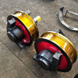 600*150铸钢双边车轮组 行车轮 龙门吊轨道轮
