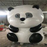 玻璃钢大熊猫雕塑定制、佛山玻璃钢动物造型雕塑