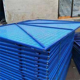 高层工地爬架网 施工安全防坠网 冲孔爬架网片定制