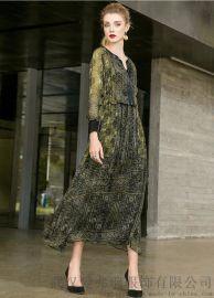 荻莎2020春夏新款套头中长款裙子服装进货吊牌几折