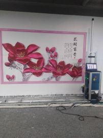 5D墙体打印机广告墙面彩绘喷绘机3D背景墙绘画机