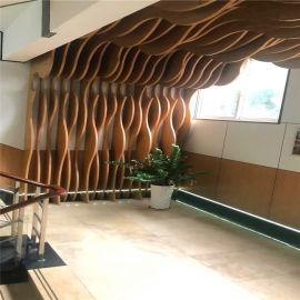 挂片式弧形铝方通 柱头造型铝板装饰厂家