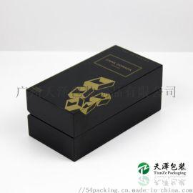 厂家定制黑色烤漆香水盒木盒包装盒