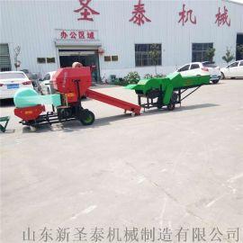 直销全自动打捆包膜机 农机补贴轴承外置打捆一体机