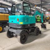 山东岳工厂家直销 抓木挖掘机 40型轮式挖机