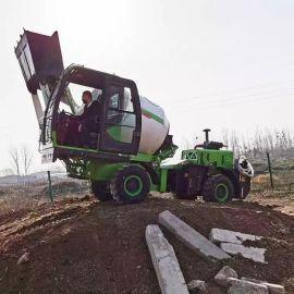 厂家自销全自动上料攪拌車 多功能混凝土自动攪拌車
