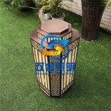 仿雲石柱頭燈定製復古仿雲石草坪燈庭院落地燈供應