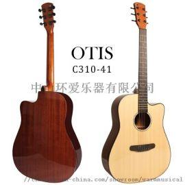 OTIS牌41寸亮光合板民谣吉他