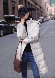 广州健凡秋冬女装 羽绒服 防寒服 品牌折扣女装