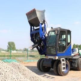 自上料混凝土搅拌车 混泥土搅拌铲车
