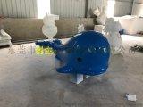 海洋生物模型主题展览会景观玻璃钢鲸鱼雕塑