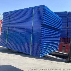 悬挑架钢网片 定型外架网 密目钢板网型号 圆孔