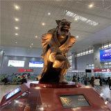 郴州市高铁站形象玻璃钢雕塑 玻璃钢酒鬼酒人物雕塑