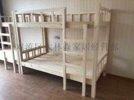 西安学校家具实木上下床实木床供应耐用环保