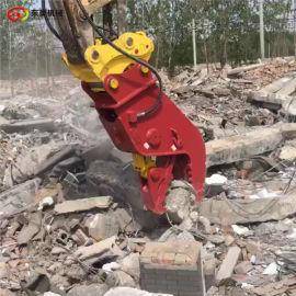 勾机液压钳夹子 废旧物资混凝土破碎钳