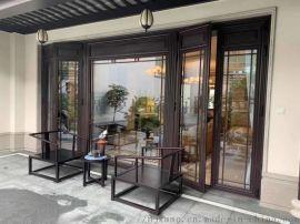 景区仿古铝合金门窗 中式铝合金仿古门窗厂家直销