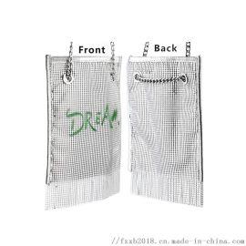 欧美流行金属晚宴手提包气质化妆包斜挎包婚宴晚装包