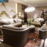 後現代輕奢頭層牛皮沙發組合客廳沙發茶几組合