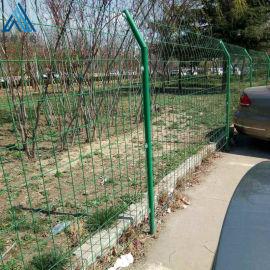 浸塑双边丝围栏网/铁丝隔离护栏网