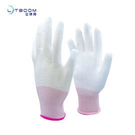 PU白滌綸浸掌 勞護手套 pu材質