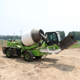 混凝土搅拌运输车 混凝土自上料搅拌车
